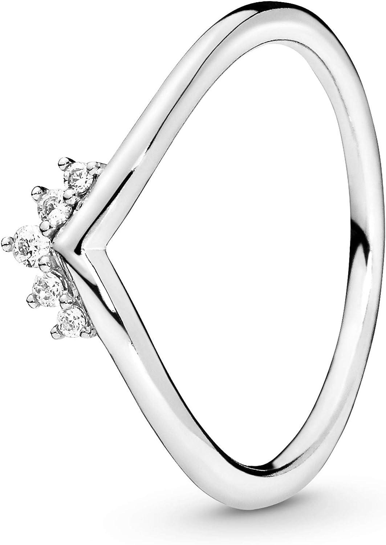 Pandora Jewelry Tiara Wishbone Cubic Zirconia Ring in Sterling Silver