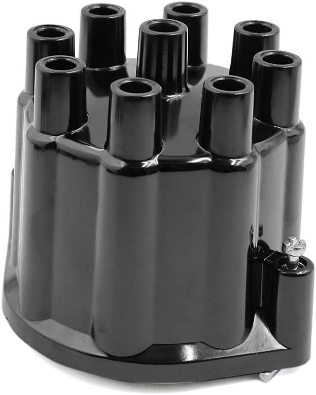 Uxcell a17051500ux1402 Black C349 19106458 Auto Car Ignition Distributor Cap for Chevrolet Chevy Chevelle Caprice Bel Air C10 C20 Suburban