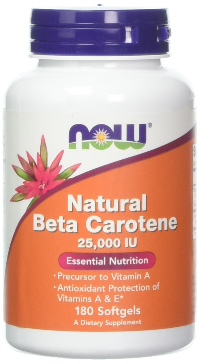 Now Foods Beta Carotene (Natural) - 180 Softgels