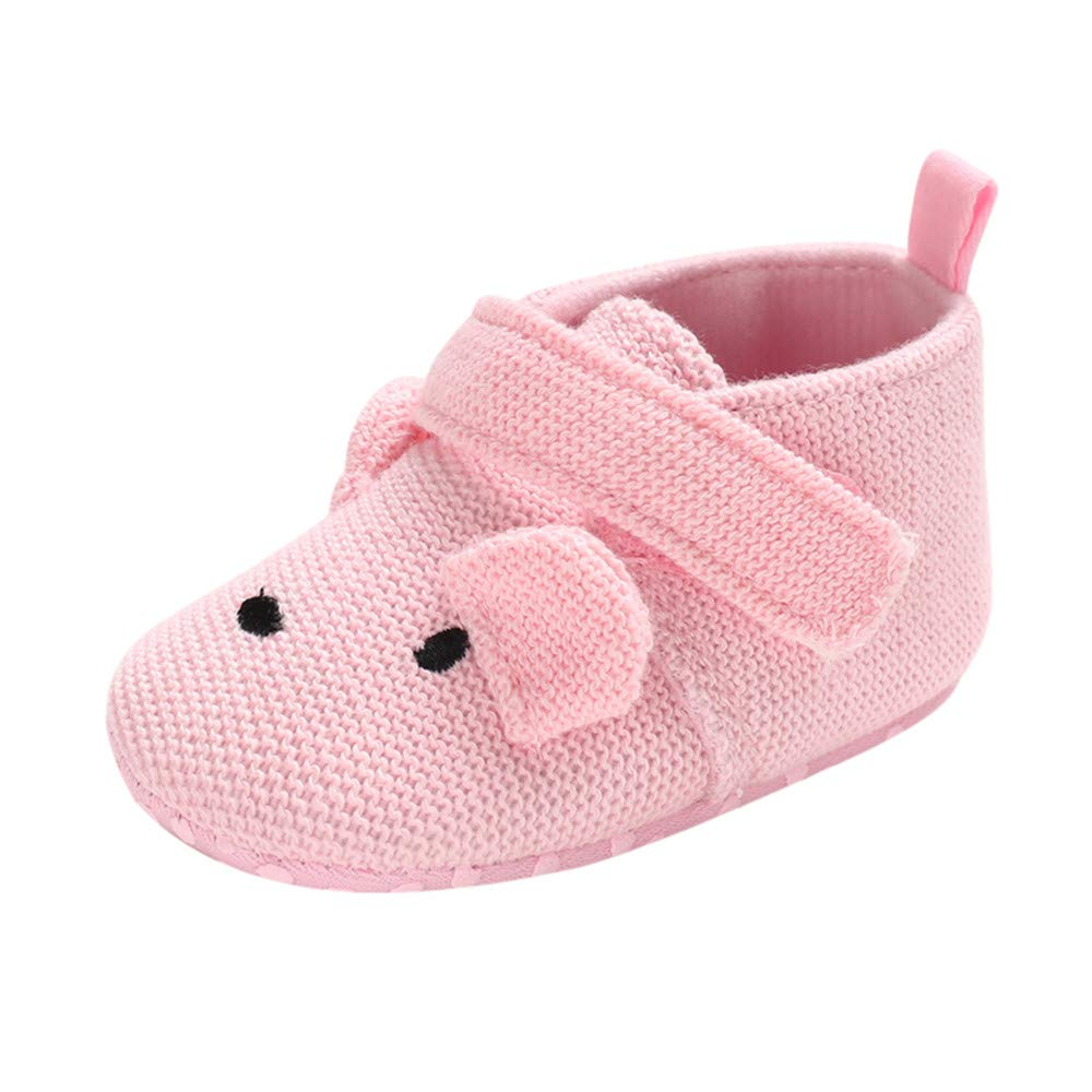 Lurryly❤2019 Snow Boots Warm Shoes Winter Baby Girls Boys Animal Prewalker Booties Slippers 0-18 M