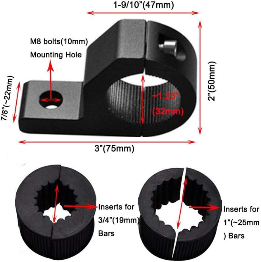 Montagehalterung Nebelscheinwerfer Fahrlicht Universalscheinwerfer 25-32mm Klemmhalter F/ür Auto Motorrad Balight