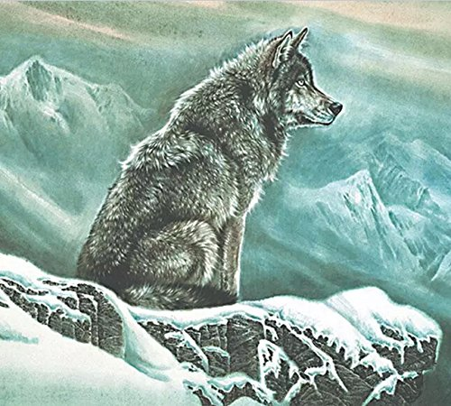 The Wolf on the Top of Snow Mountain 500 Pieces Puzzle