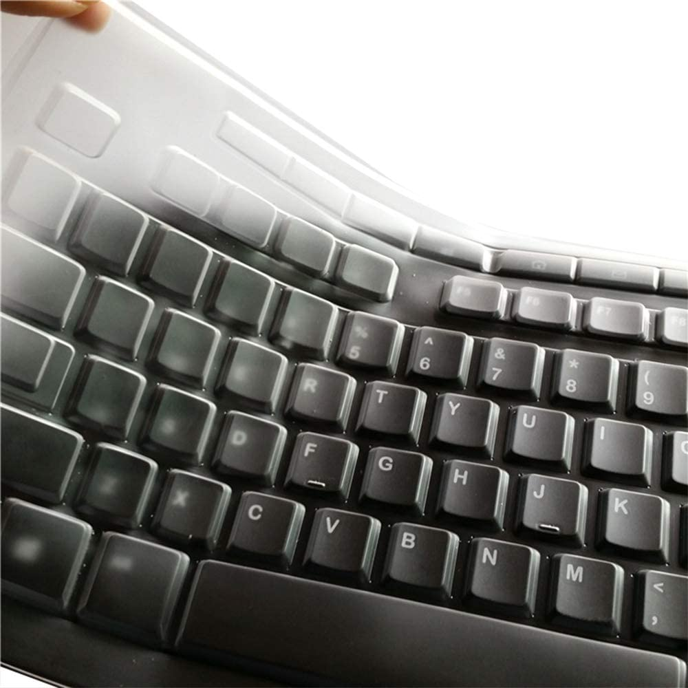 Ultra Thin Silicone Clear Keyboard Protective Skin Cover Compatible with Logitech K200 K260 K270 MK200 MK260 MK270 Keyboard Transparent