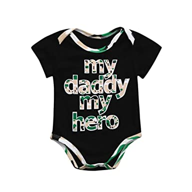969baf1c7 Amazon.com  Kehen Newborn Baby Boy Girl My Daddy My Hero Letter ...