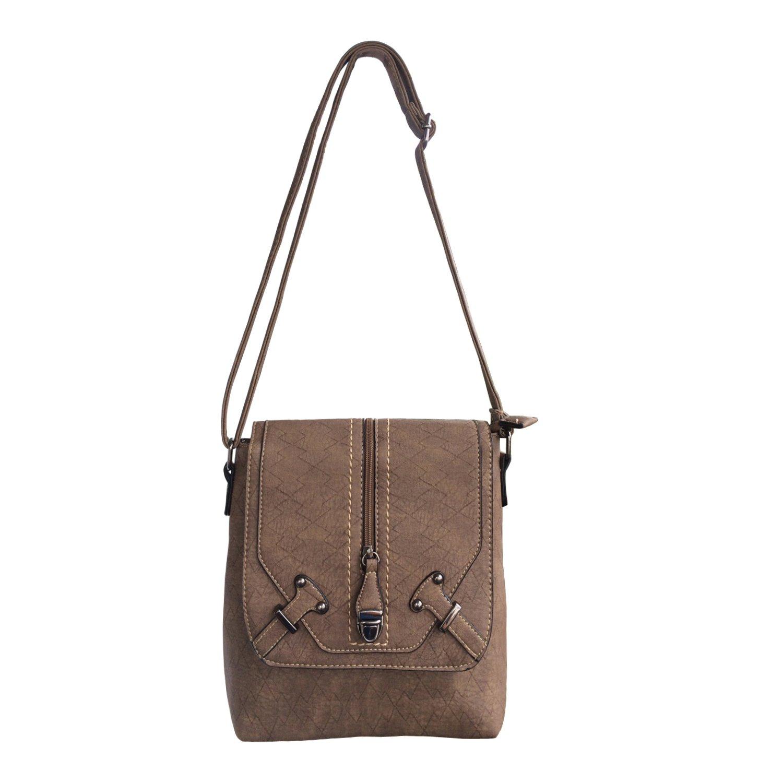865be836c284 FanCarry PU Leather Magnetic Flap Top Medium Crossbody Messenger Purse  Shoulder Bag Satchel