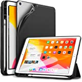 ESR Case for iPad 7th Generation 10.2-Inch, Smart Case with Pencil Holder, Rebound Trifold Smart Case, Smooth Finish, Soft Flexible Back Cover, Black