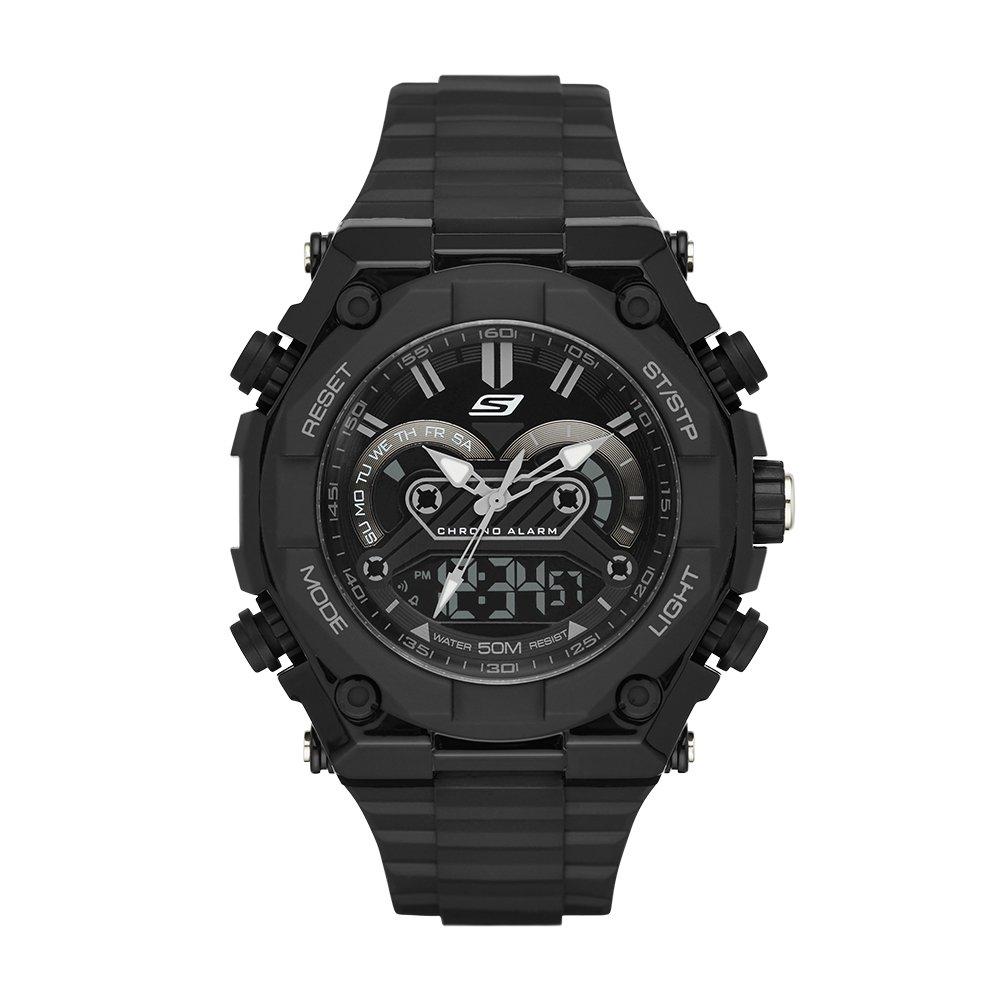 Reloj de cuarzo con pantalla anš¢logo-digital SR1042 para hombre: Amazon.es: Deportes y aire libre