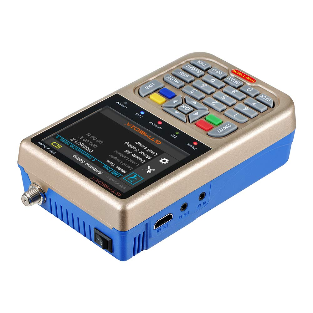 JUSHENG Newest GTMEDIA V8 Finder Digital Satellite TV Signal Finder Meter (V-73HD) DVB-S2 FTA LNB Signal Meter Pointer Satellite TV Receiver Tool with 3.5' LCD by JUSHENG (Image #5)