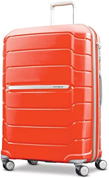 Samsonite Freeform Hardside Expandable with Double Spinner Wheels, Tangerine, Checked-Large 28-Inch