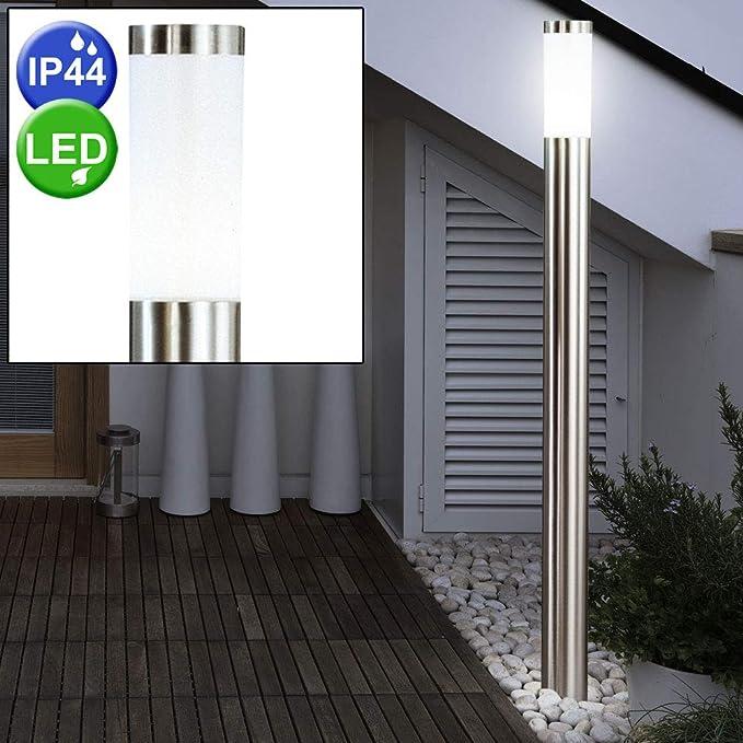 LED Außen Steh Lampe Alu Garten Weg Strahler Veranda Beleuchtung Hof Leuchte