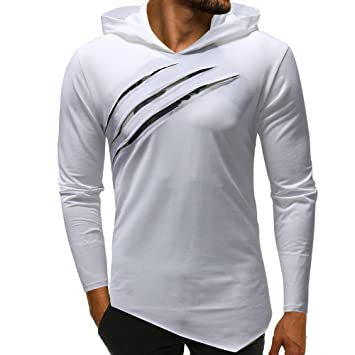 Camisas Hombre,❤ Amlaiworld Sudadera con Capucha de Camuflaje para Hombre Moda Blusa de Manga Larga Tops Camiseta Casual Niños Camisetas Deporte Hombre: ...