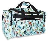 Ever Moda Bird Duffle Bag 19-inch Multicolor Teal Green