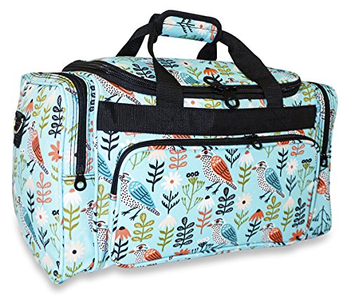 Ever Moda Bird Duffle Bag 19-inch Multicolor Teal (Duffle Bags For Girls)