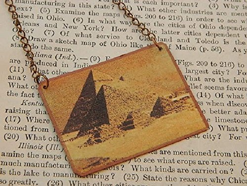 Egyptian necklace Pyramid Jewelry