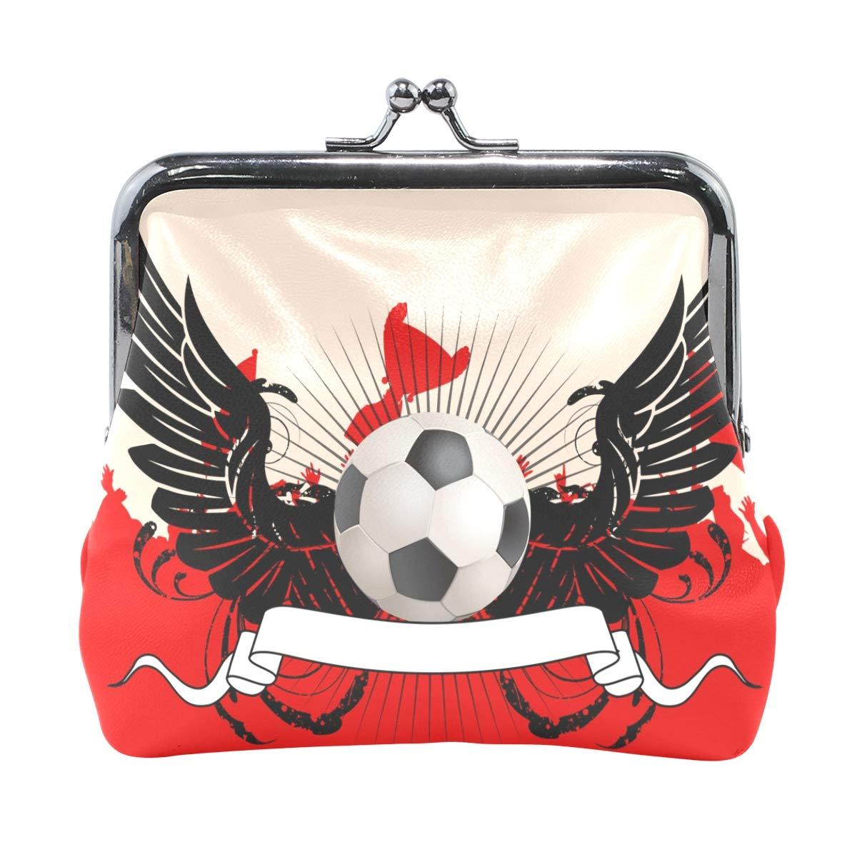 LALATOP Soccer Fans Womens Coin Pouch Purse wallet Card Holder Clutch Handbag