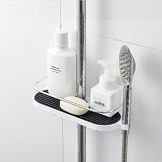 Merisny Duschstangen Ablage Badezimmer Dusche Rack Verstellbar Hohe