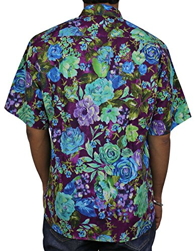 Baumwolle Hawaiian Print Strand-Shirt Für Herren, Herren Prämie Indischen Gedrückt