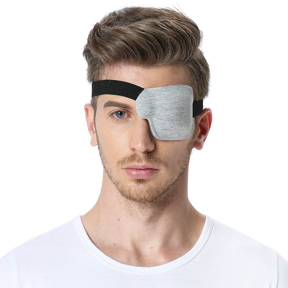 3D Eye Patch to Treat Lazy Eye/Amblyopia/Strabismus (Left Eye, Light Grey) FCAROLYN