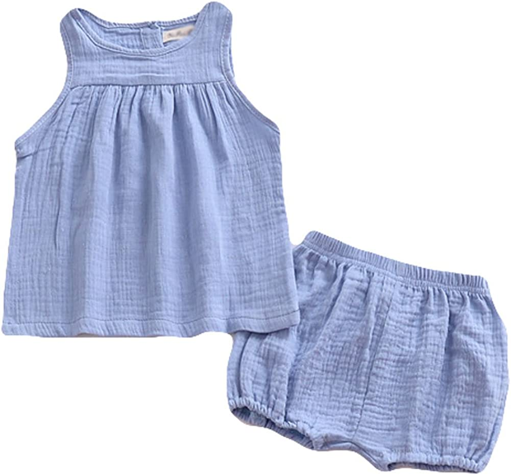 LOOLY Baby Boys Girls Cotton Linen Blend Overalls