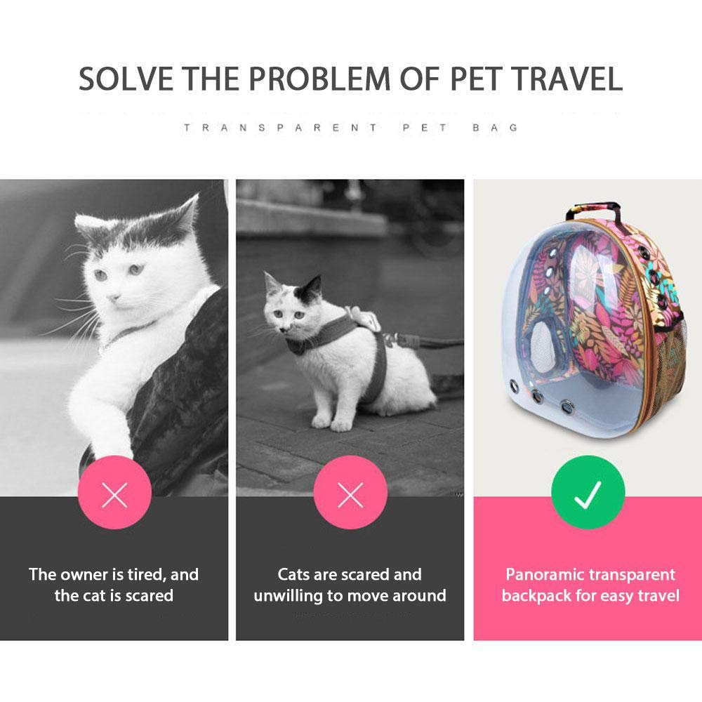 877545fb24 Amazon.com : Leegoal Pet Carrier Space Capsule Backpack, Astronaut Pet Cat  Dog Puppy Carrier Travel Bag Hiking Bubble Backpack, Breathable  360°Sightseeing ...