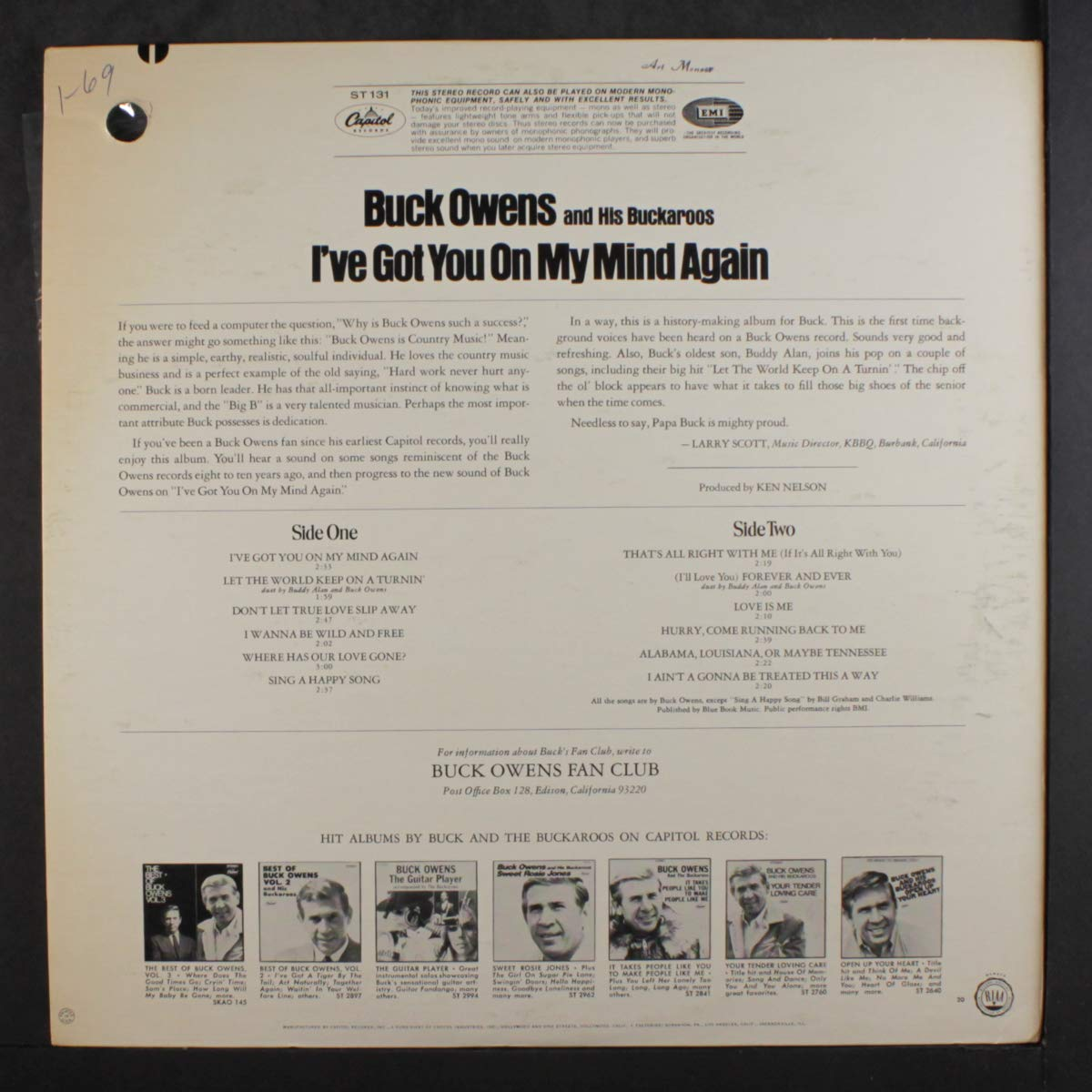 BUCK OWENS - ive got you on my mind again LP - Amazon.com Music