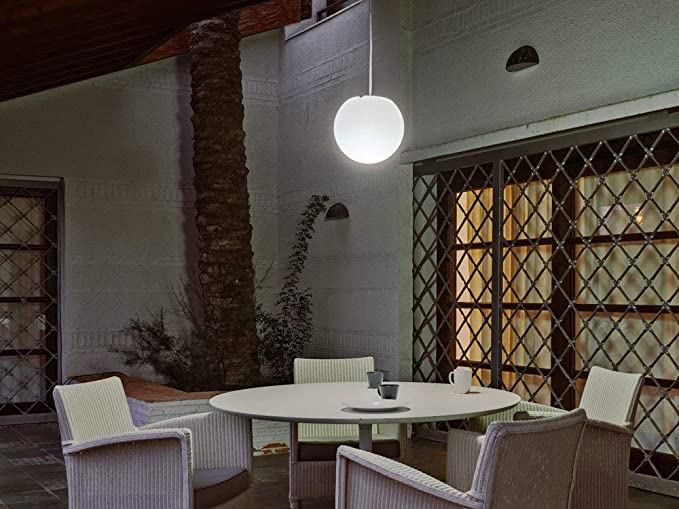 Buly lampada a sospensione per esterno bianco Ø cm lampada