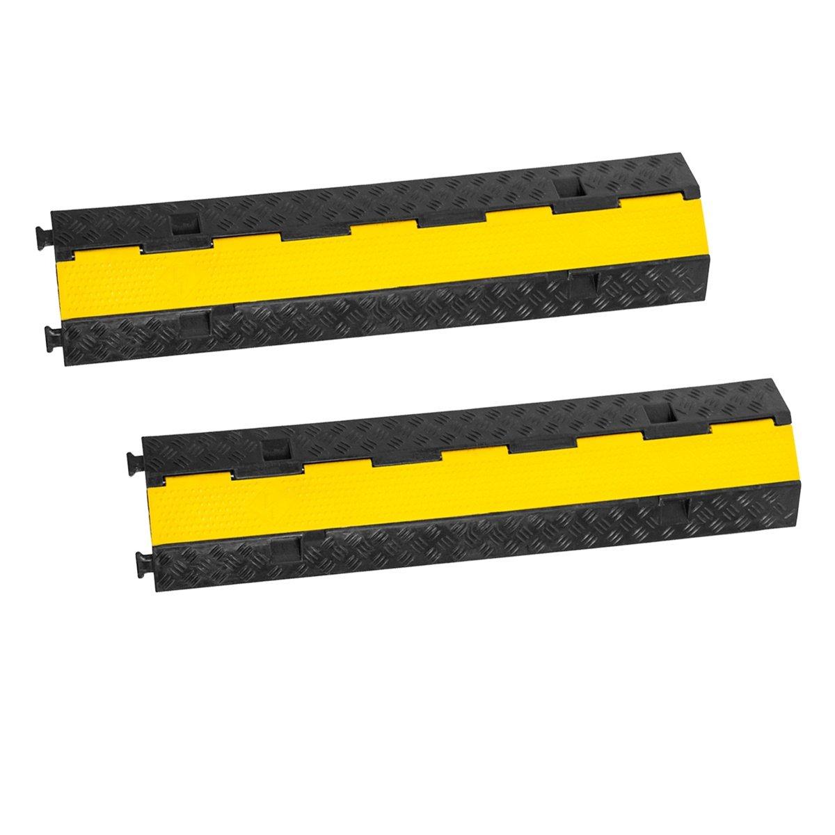 2x 1 Meter Kabelbr/ücken Stecksystem LKW//PKW /Überfahrschutz Kabelschutz 2-Kanal Br/ücke Stecksystem