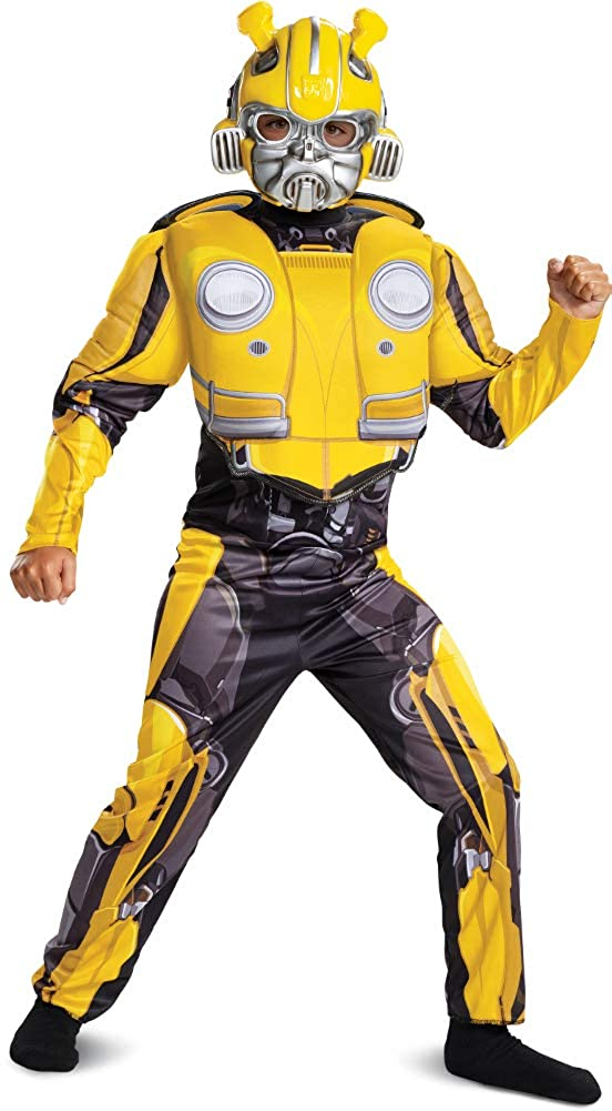 Child's Boy's Transformers Bumblebee Classic Muscle Chest Costume Medium 7-8