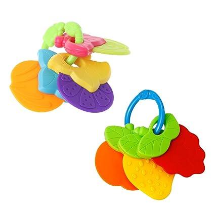 manyo bebé Mordedor Frutas Forma silicona segura dentición ...