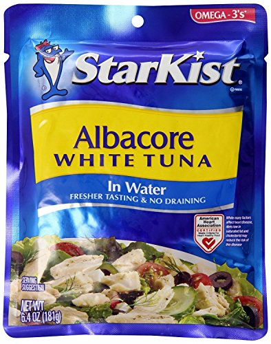 StarKist Albacore White Tuna in Water, 6.4-Ounce Pouch (Pack of 5) (Starkist Albacore)