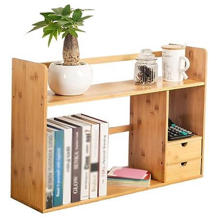 BAIF Estantería pequeña Mempers, estantería de bambú Simple de ...