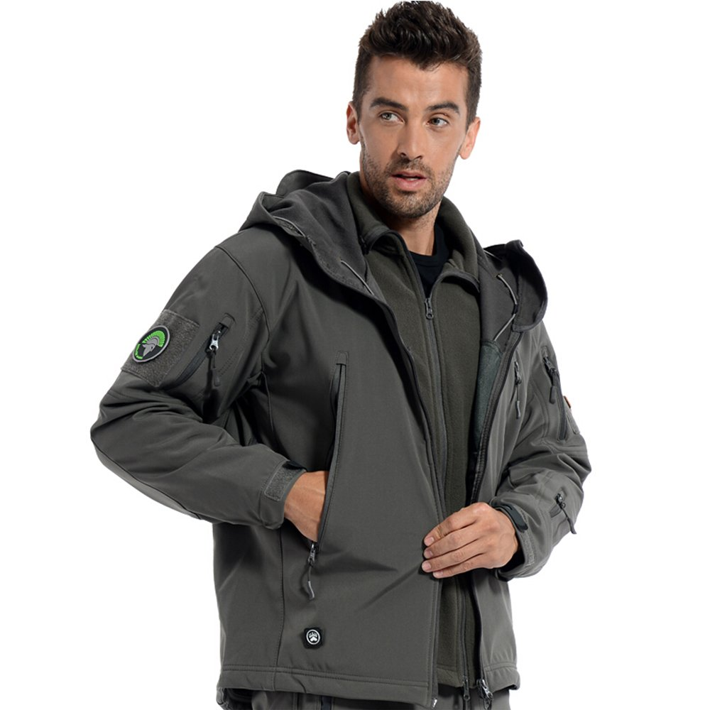 PAVEHAWK Men's Jacket Hoodie Softshell Fleece Waterproof Military Coat Yancheng Xuelang Clothing Co. Ltd.