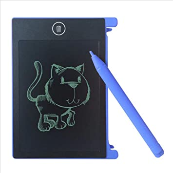 SNOWINSPRING Tableta de Escritura LCD Bloc de Notas sin Papel Tablero de graficos de Dibujo Escritura 4.4 Pulgadas (Azul): Amazon.es: Juguetes y juegos
