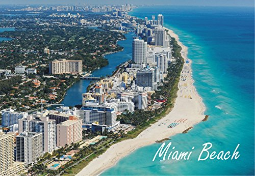Miami Beach, Florida, City, Skyline, FL, Beach, Souvenir Magnet 2 x 3 Photo Fridge - Miami Pictures Airport Of