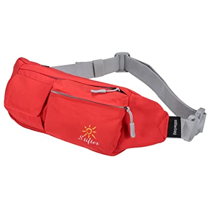 c1840e28325a4 Stifter Premium Cotton Fanny Pack, Waterproof Waist Bag Pack for Man Women  Outdoors Travelling Climbing, 1.5L Capacity, 5 Pockets, Modern Looking, ...