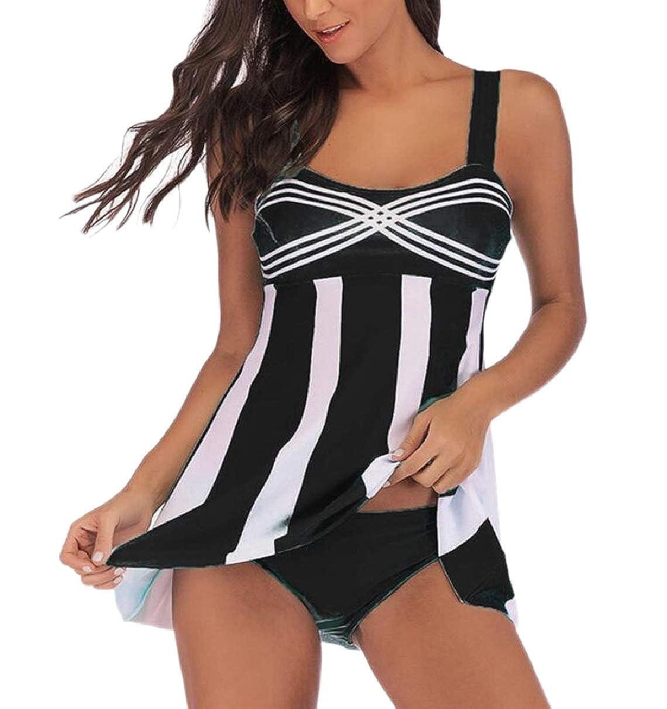 Amazon.com: yieg-mx Las Mujeres Traje de baño Tankini top ...