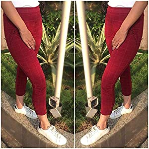 HELISHA® Hosiery Cotton Printed chex Pants(with Diamond Pocket) Gym Legging Combo for Women(Free-Size) 28-32 Waist Size (Pack of-3)