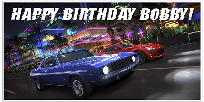 Amazoncom Fast and Furious Birthday Banner Personalized Party