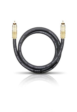 Oehlbach 2502 - Cable coaxial (RCA, RCA) Negro