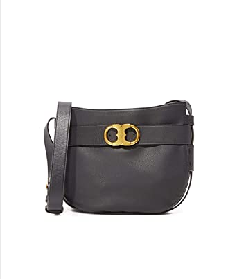 5746b1c4d Image Unavailable. Image not available for. Color  Tory Burch Gemini Link Leather  Shoulder Black Women s Bag