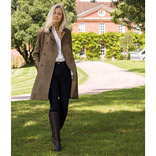 Caldene Botas Altas de Cuero Encerado/Ante Modelo Buckland Para Mujer Marrón