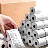 BESTEASY 2-1/4'' x 50' Thermal Paper Rolls, White Thermal Paper, Cash Register POS Receipt Paper(50 Rolls)