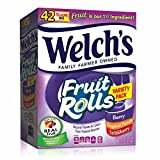 #8: WELCH'S Fruit Snacks Rolls Variety Pack, Strawberry, Berry, Tropical, 42 Count