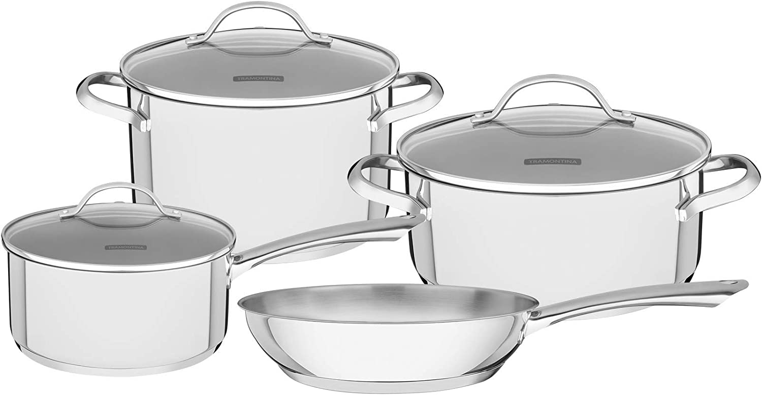 Tramontina 65280/310 Cookware Set, Stainless Steel