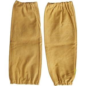 Welding Sleeves, Leather, Golden Brown, 18