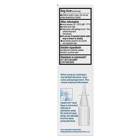 Amazon.com: NasalCrom - Pulverizador nasal para alérgicos ...
