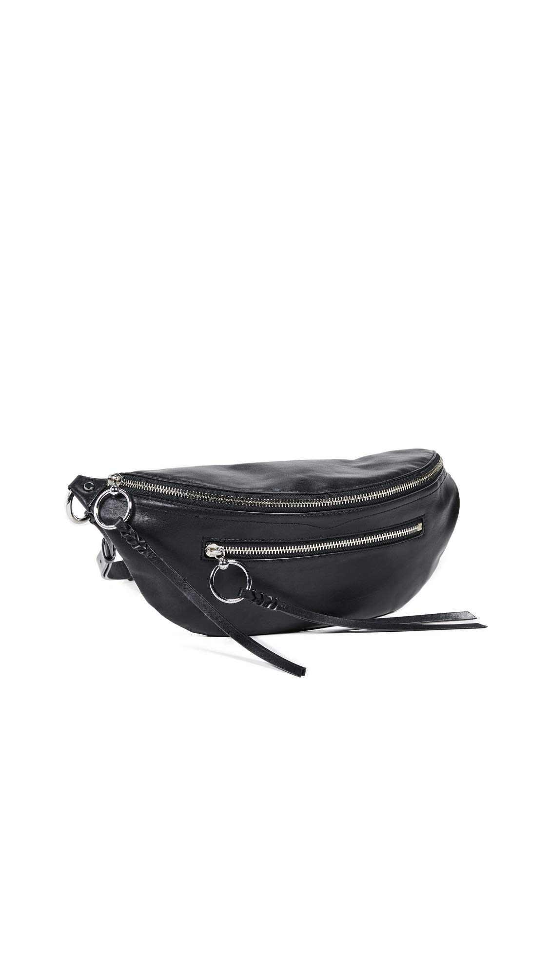 Rebecca Minkoff Women's Bree Large Zip Sling Bag, Black, One Size