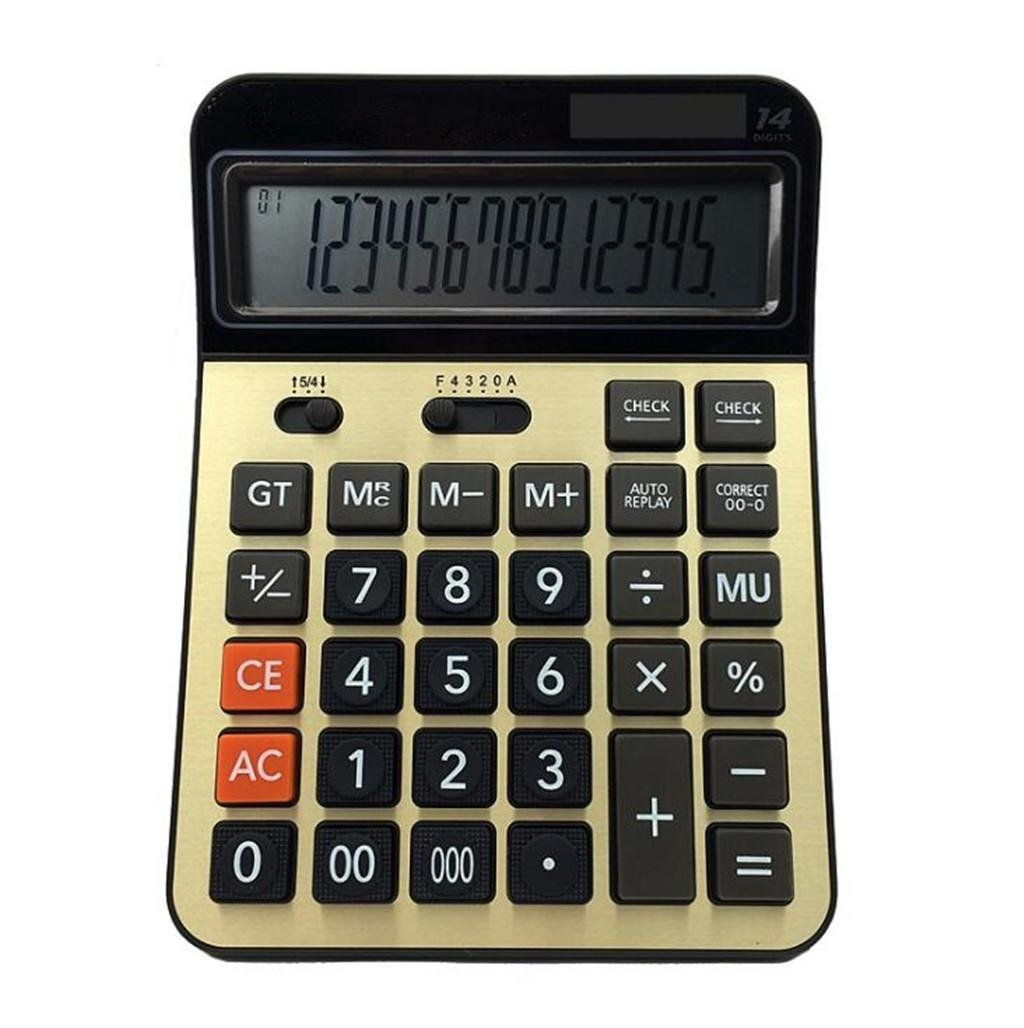 ZHAS Professional Electronic Calculator,14 Digits Desktop Calculator, Office Financial Computing Supplies by ZHAS