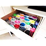 Evelots Set of 2, 56 Slots total interconnect-able plastic honeycomb drawer organizers