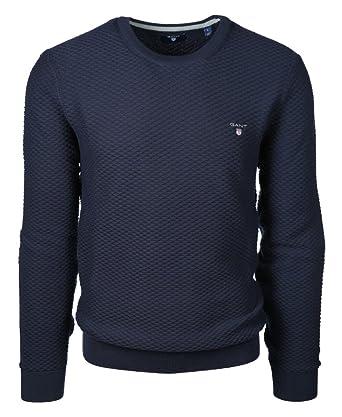 GANT Herren Pullover Größe M Blau (Blau): : Bekleidung